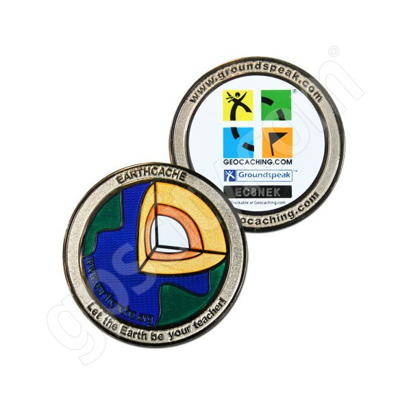 Geocaching Official Earth Cache trackable Geocoin