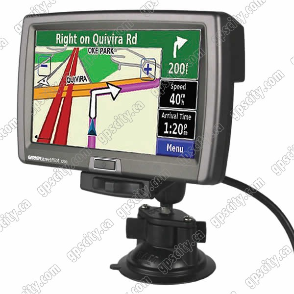 Click for larger view of the Garmin StreetPilot 7200/7500 Cradle with RAM Locking Suction Cup Mount