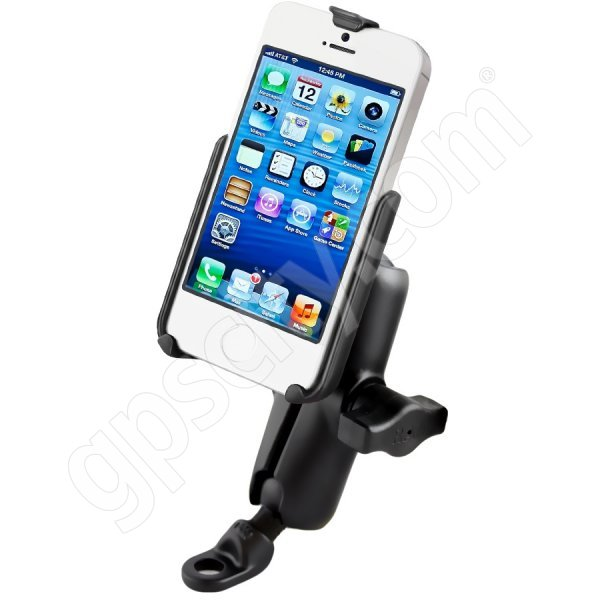 iphone 5s ram ram mount apple iphone 5 5s motorcycle 9mm angled plate 11234