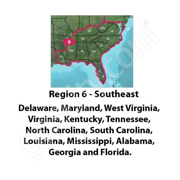TOPO US 24K Southeast DVD for Region 6