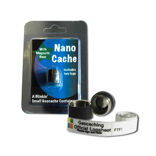 Geocaching Nano Cache Black