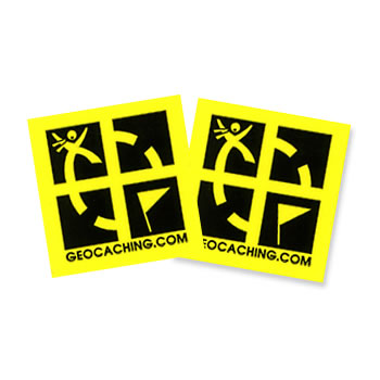 Geocaching Logo Yellow Sticker