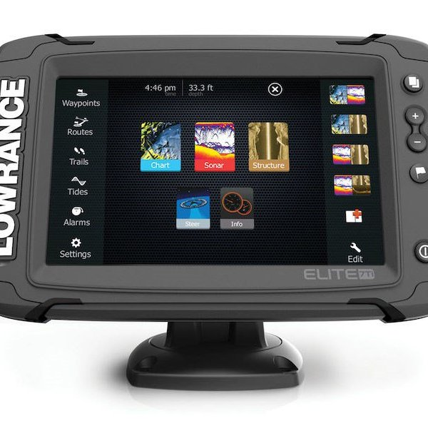 lowrance elite 7 ti touchscreen with downscan transducer. Black Bedroom Furniture Sets. Home Design Ideas