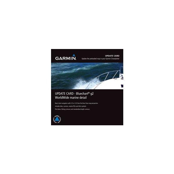 Garmin Worldwide Marine Detail Map Bluechart g2 Update Card