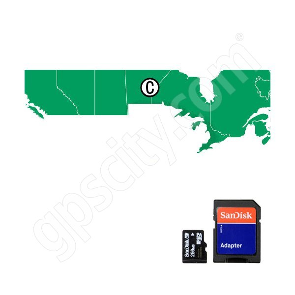 HotMaps Premium Canada Lakes microSD with SD Adapter