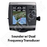 Go to the Garmin GPSMAP 521s Sounder with Dual Frequency Transducer page.