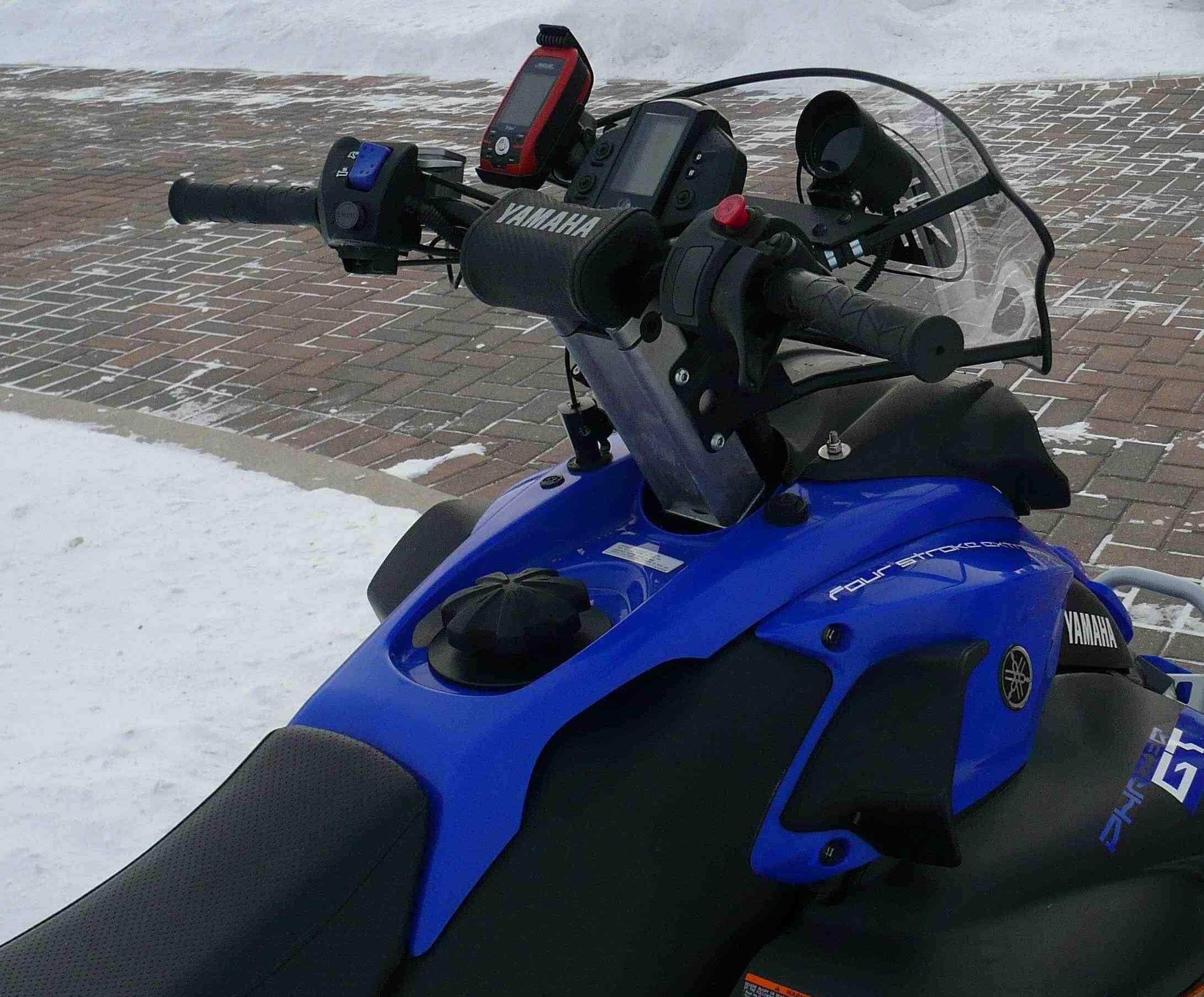 Skidoo Gps And Mount Photos Articles Ski Doo Wiring Diagram 2009 Summit 550f Ram On 2007 Yamaha Phazer